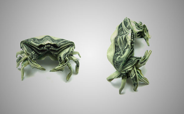 Sweet pleasure: Dollar origami - photo#39