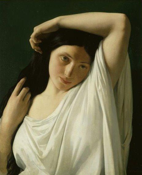 [Hippolyte-Jean+Flandrin+1809-64+Jeune+femme+en+buste,+dite++La+Florentine+,+musée+municipal+d'Evreux....bmp]