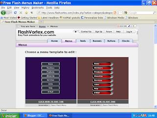 menu Flashvortex