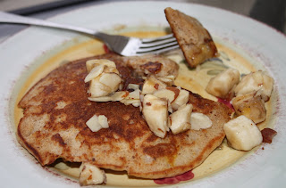 Whole Wheat Banana-Nut Sour Cream Pancakes