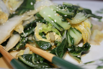 Sesame Stir Fried Chinese Greens