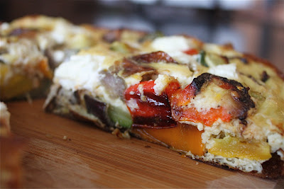 Roasted Vegetable and Goat Cheese Frittata
