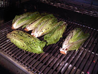 Grill the lettuce on the barbecue for 5 minutes