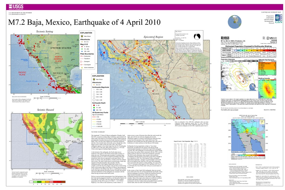 Arizona Geology: Geology photos posted from Sierra El Mayor quake