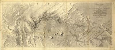 Map Of Arizona 1858.Arizona Geology Ives 1858 Map Of The Rio Colorado Of The West