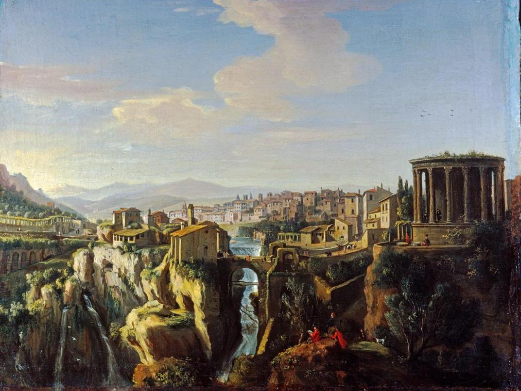Tivoli Museum Rome Gaspar Van Wittel View Of Tivoli 1700 Oil On Canvas