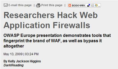Tactical Web Application Security: WAF Detection with wafw00f