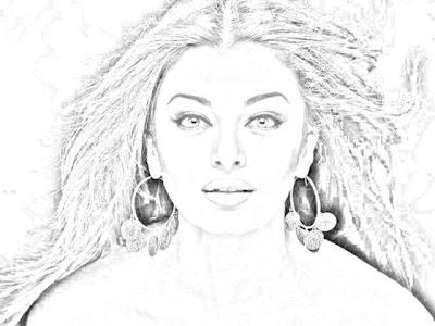 Beautiful pencil sketches wallpapers model girl
