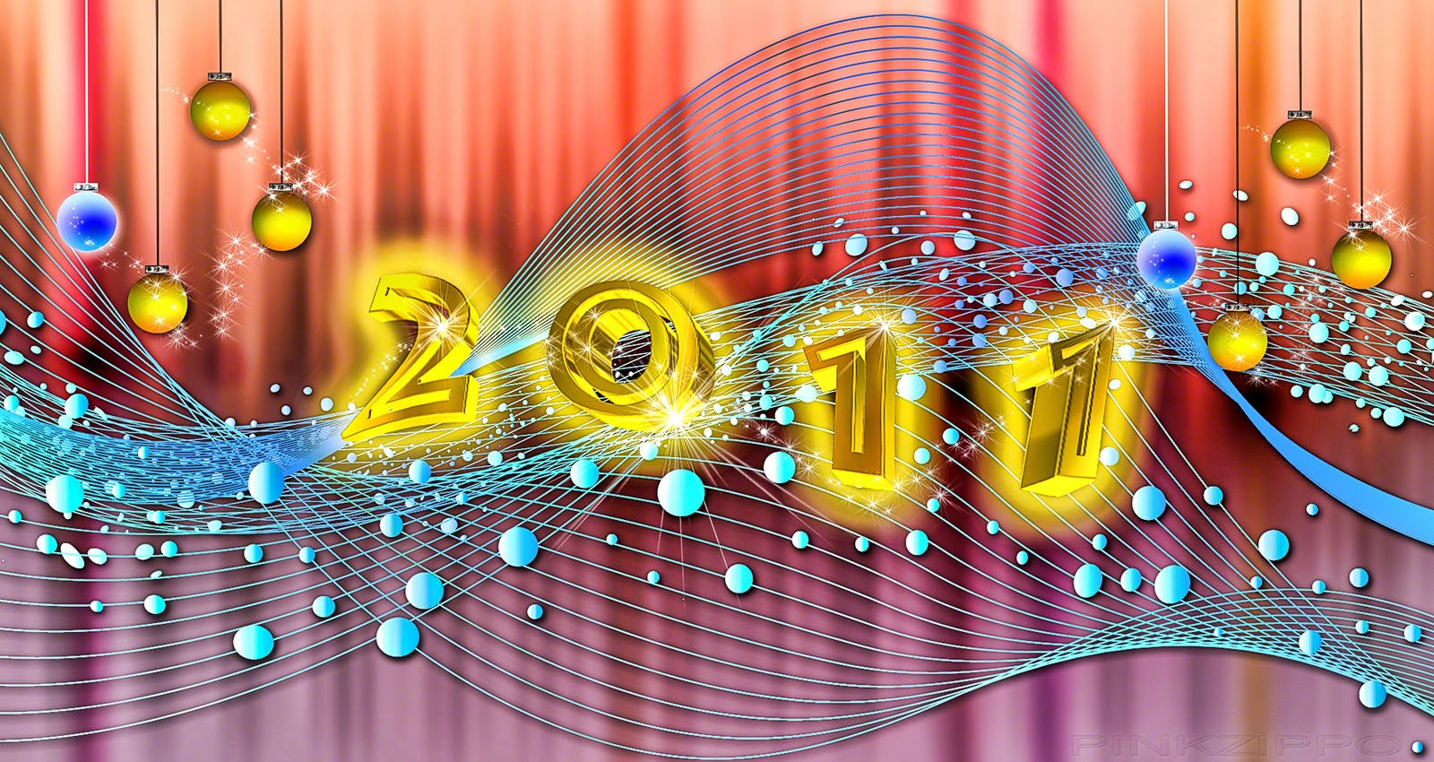 Welcome New Year 2011 Greeting Card Wallpapers