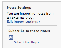 Importing of RSS Feeds on Facebook