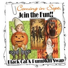 Black Cat & Pumpkin SWAP