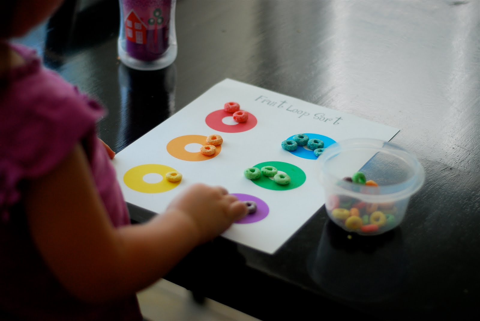 Better Than I Could Have Imagined Fruit Loop Sort Printable Toddler Learning Activity