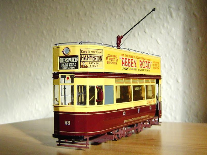 model of F class tram