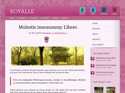 Woothemes Royalle Free Premium WordPress Themes