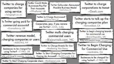 Los titulares en el comunicado del blog corporativo de Twitter