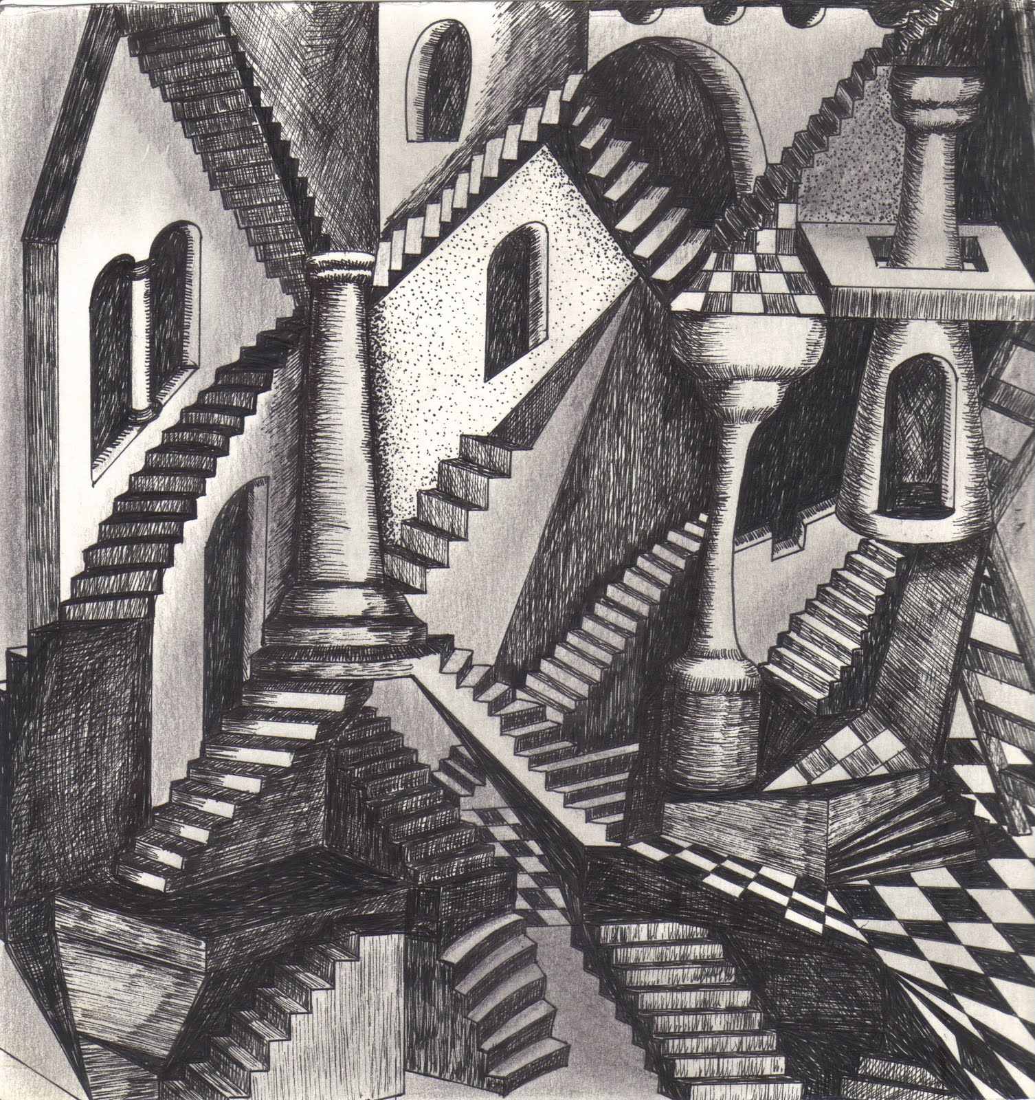 Horses and Birds M. C. Escher