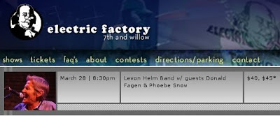 Electric Factory concert listings