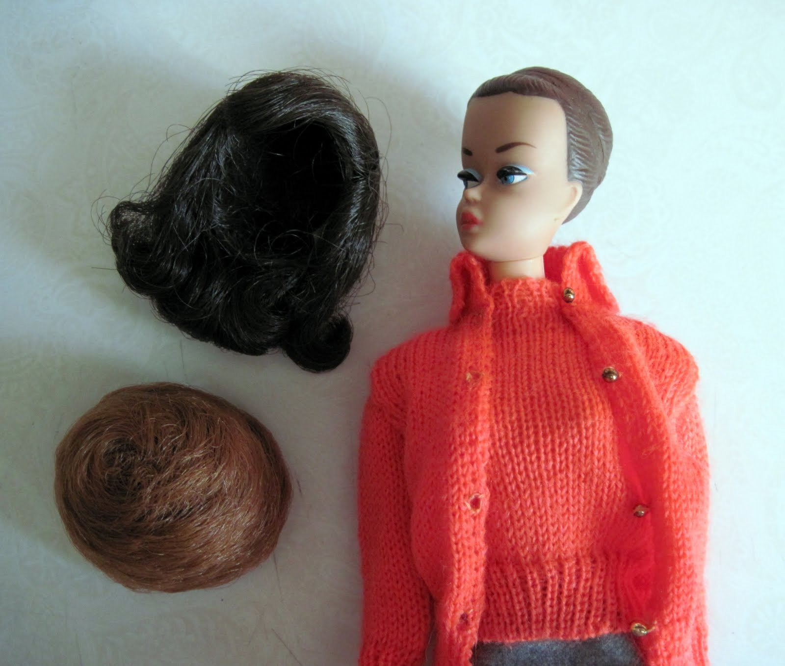 With vintage barbie wigs