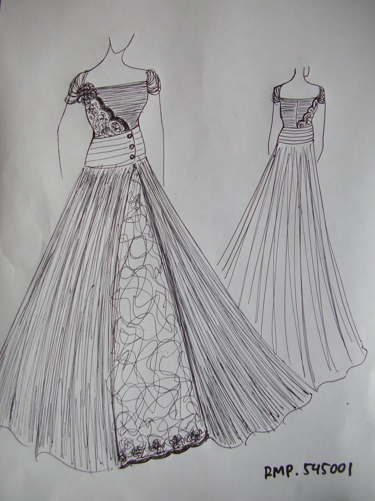 Gambar Desain Baju Pesta Modern  gambar desain baju pesta