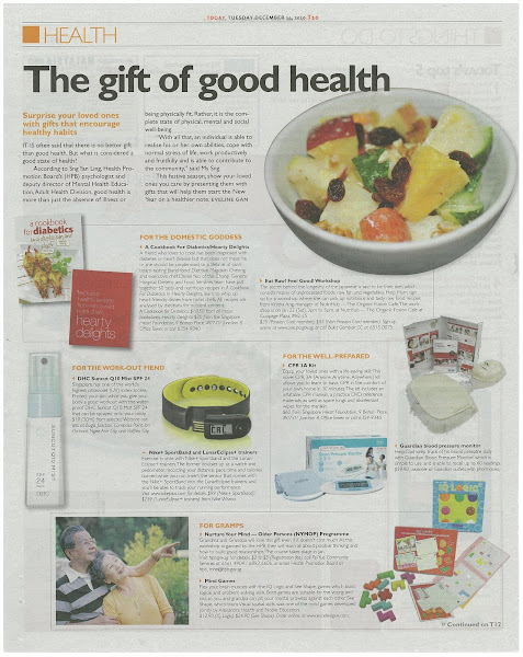 NutriHub's Eat Raw Feel Good class featured in Todays article 14 Dec 2010