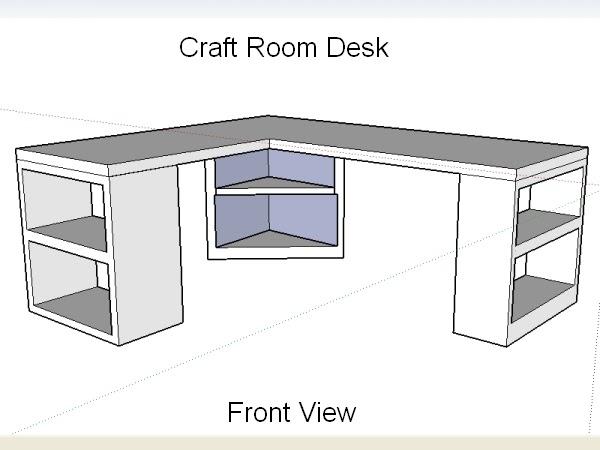 Craft Room Desk: Kitchen Improvement: Craft Room Desk Design