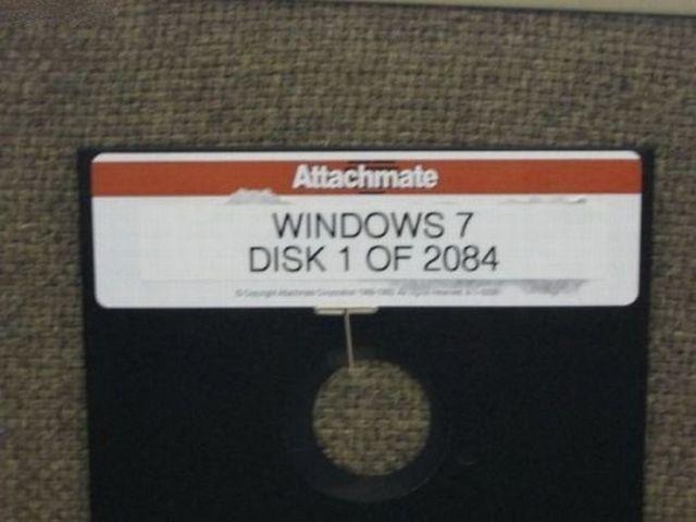 lupe der satire blog windows 7 mit 5 1 4 zoll disketten. Black Bedroom Furniture Sets. Home Design Ideas
