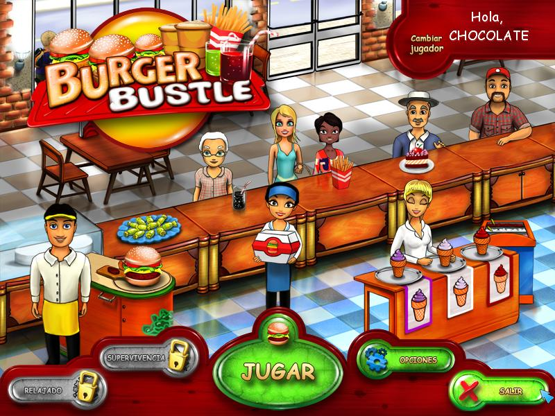 Burger Bustle, Juego De Gestión De Tiempo En Español