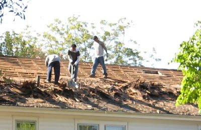 Removing the old roof