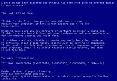 this word has ever been heard in your ears Definition of BSoD (Blue Screen of Death)