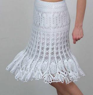 23792e76f Ropa Elite, última moda: Faldas a crochet moldes
