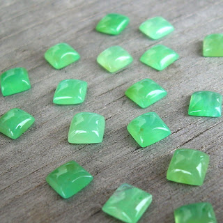 chrysoverde chalcedony cabs