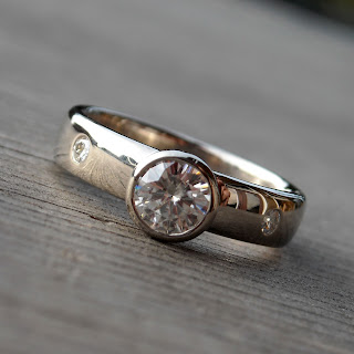 recycled white gold ring