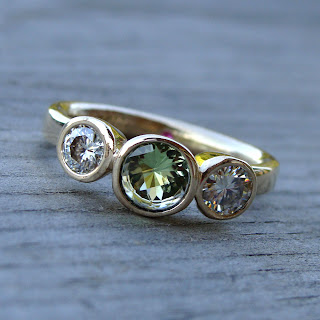 peridot engagement ring