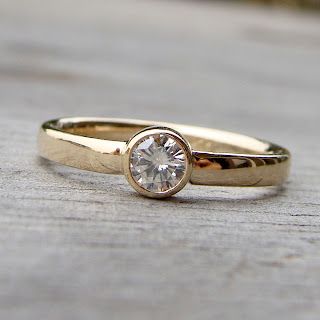 moissanite ring delicate