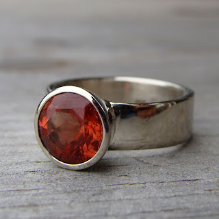 chunky sunstone ring