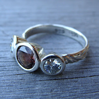 silver sunstone ring