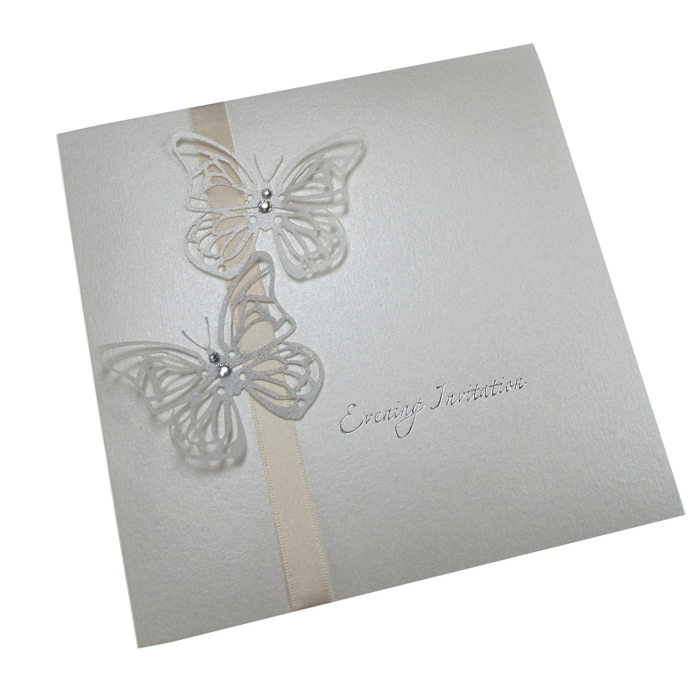 Butterfly Themed Wedding Invitations: The Handcrafted Card Company Ltd: Laser Cut Butterfly