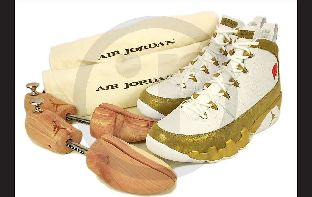 timeless design 0f4d7 15355 rmkstore  Nike Air Jordan 9 IX Retro Premio Bin 23 White Gold 410917-101