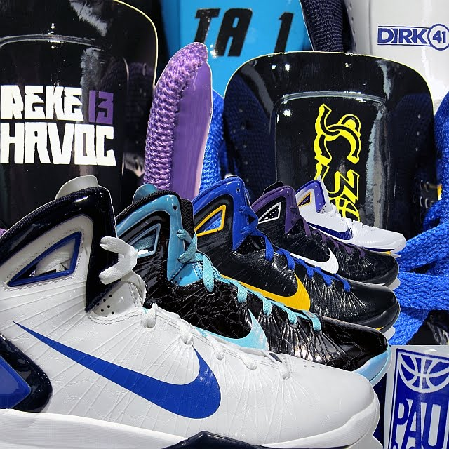 af1fb656be48 Nike Hyperdunk 2010 PE Collection - Dallas Mavericks Dirk Nowitzki 41 · -  Golden State Warriors Stephen Curry SC30 · - New Orleans Hornets Trevor  Ariza 1