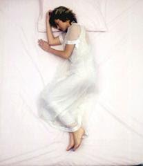 mujer, dormida