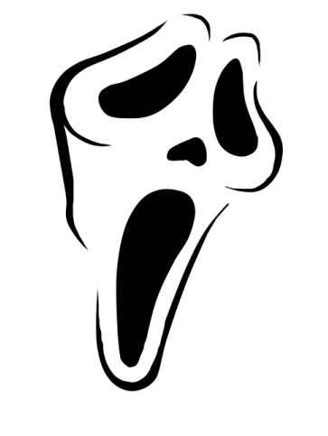 Randomly stencils for Scream pumpkin template