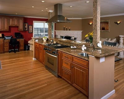 Modern furniture modern bedroom modern kitchen - Kitchen island with cooktop and seating ...