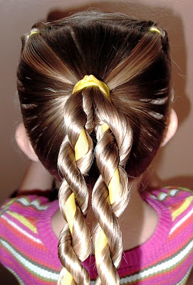 Little Girl's Hairstyles -Twist Braid with Ribbon Video