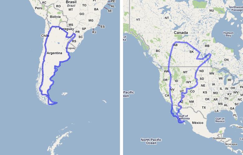 Map Of Australia Vs Usa.Overview For Mapfrapper