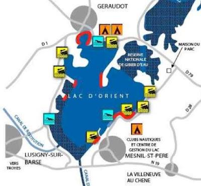 plattegrond foret d'orient karpervissen frankrijk