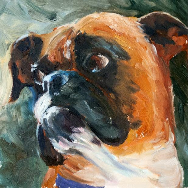 Kit Hevron Mahoney Fine Art Kmd2556 Solo Boxer Dog Pet
