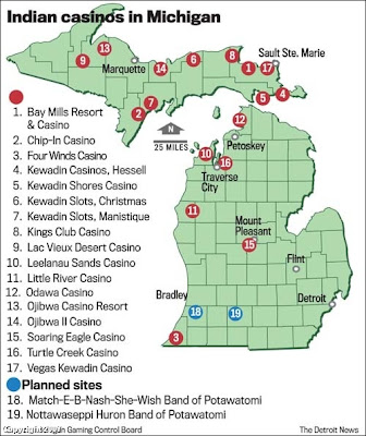 Casinos In Michigan Map The Verifiable Truth: Map of Indian casinos in Michigan