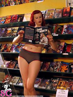 Sexy Girl Reading Comic Books