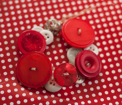 Button Wreath Ornament