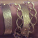 Gold Leather Link Wrist Wrap